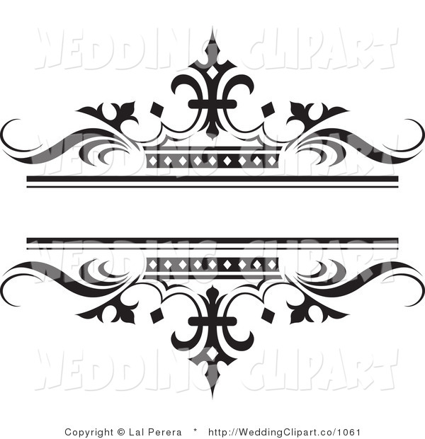 Crown Border Clipart Black and White.