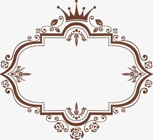 Coffee Crown Frame PNG, Clipart, An Crown, Border, Border.