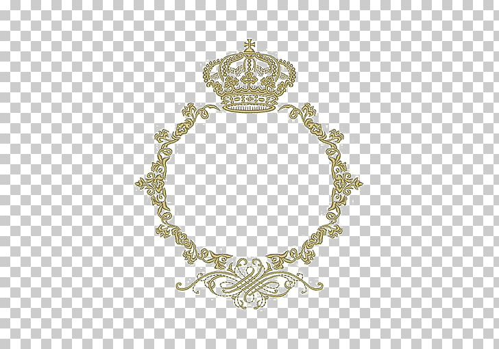 Monogram Crown frame Marriage Embroidery, Round border.
