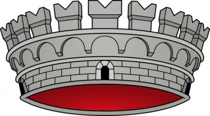 Crown Castle clip art free vector.