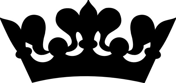 Crown clipart images black and white.