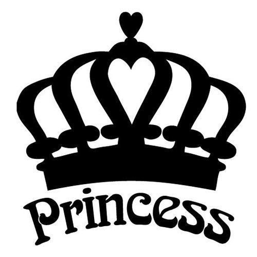 Princess Crown Laptop Car Truck Vinyl Decal Window Sticker PV268.
