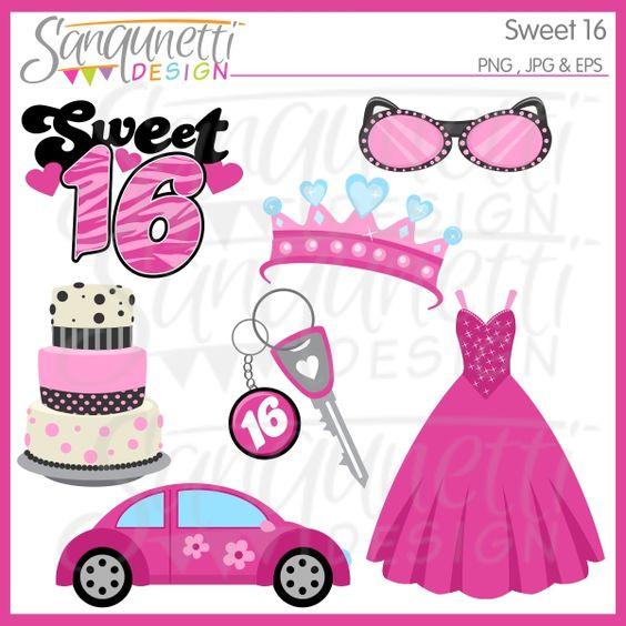 Sweet 16 Clip Art & Sweet 16 Clip Art Clip Art Images.