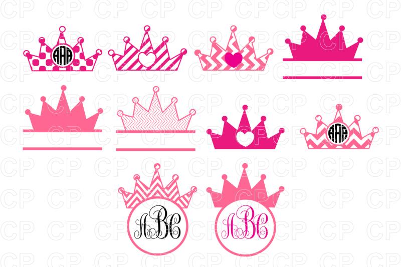 Free Priness Crown Bundle SVG Cut Files, Priness Crown.