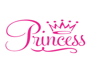 princess crown decal svg dxf file instant download silhouette.