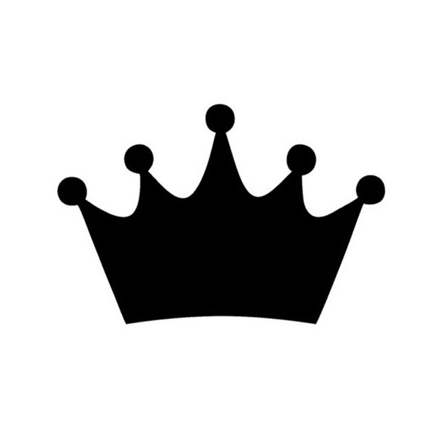 14*9.5CM KING CROWN Race Car Stickers Cartoon Character.