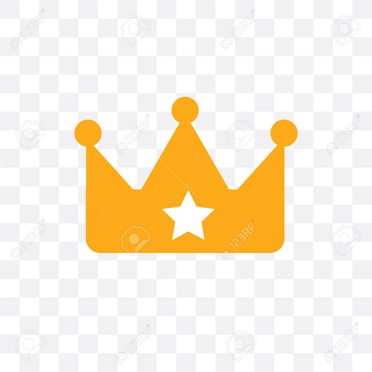 Crown vector icon isolated on transparent background, Crown ...