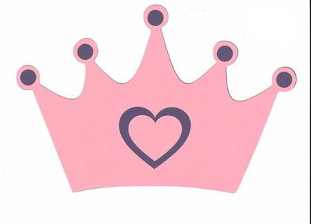 Pink princess crown clipart.