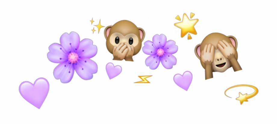 crown #emoji #monkey #tumblr #cute #pastelcolors #purple.