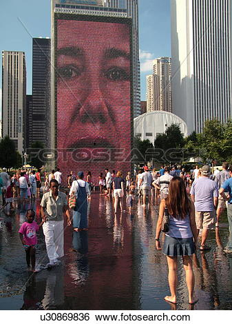 Stock Images of Chicago, IL, Illinois, Windy City, Downtown.