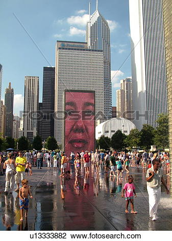 Stock Photo of Chicago, IL, Illinois, Windy City, Downtown.