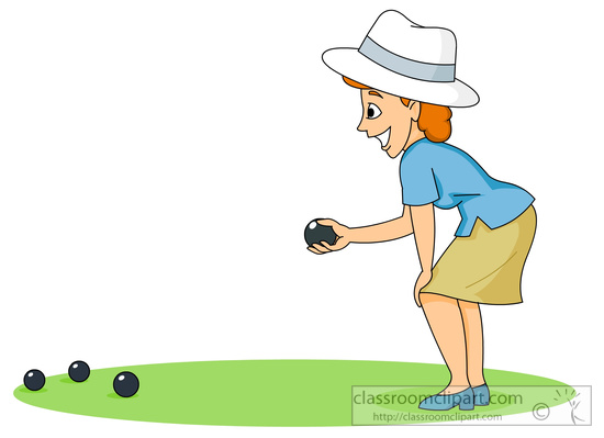 Crown Green Bowling Clipart.