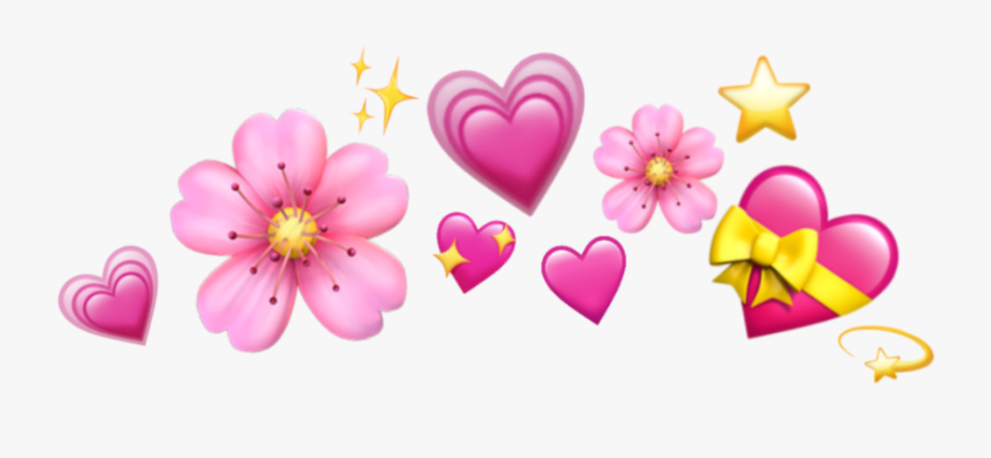 emojis #crown #hearts #star #stars #heart #flower.