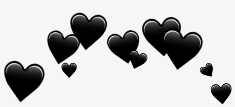 Hearts Heart Crown Black Emoji Emojis.