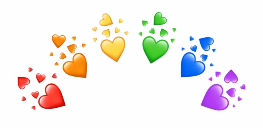 rainbow #heart #crown #aesthetic.