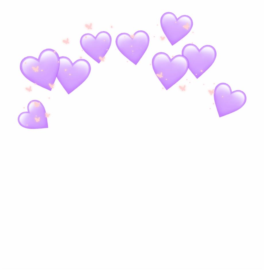 Heart Hearts Crown Emoji Tumblr Purple Heart Crown.
