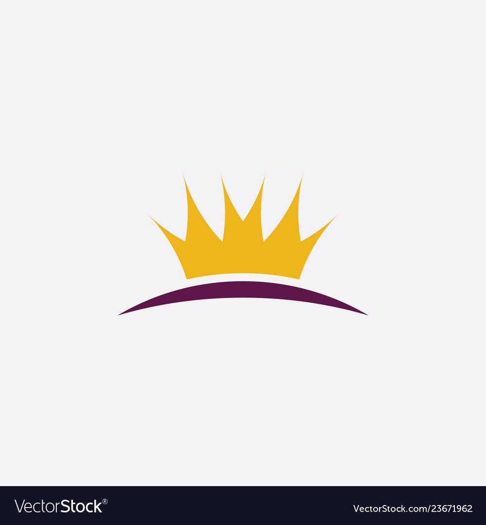 Crown icon clipart symbol design.