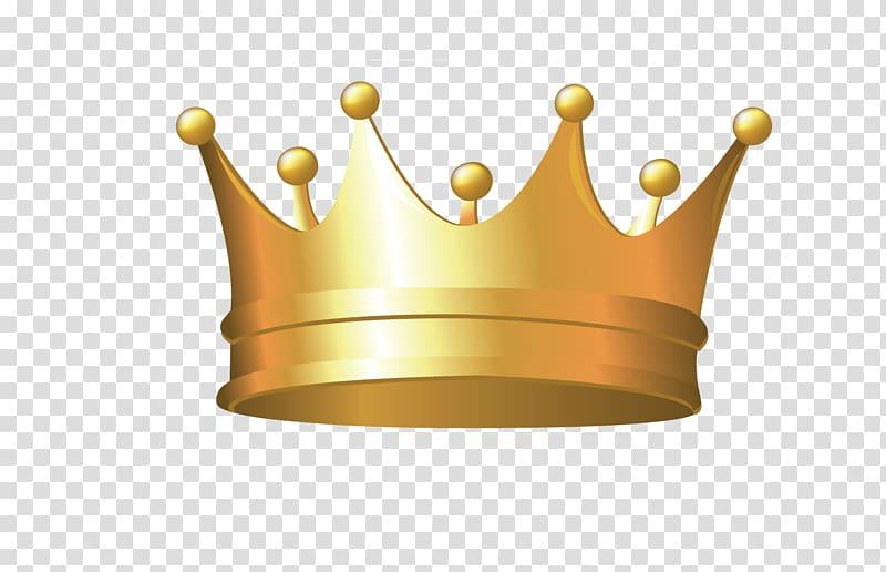 Brass crown illustration, Gold Illustration, Golden Crown.