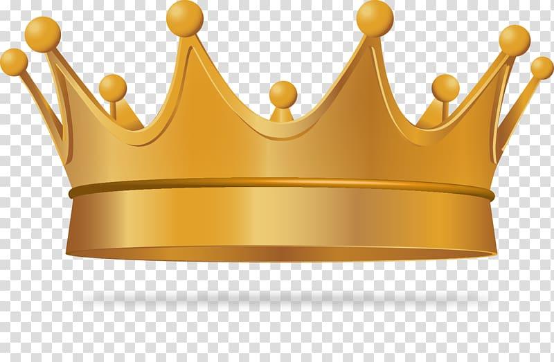 Gold crown illustration, Crown Euclidean King, exquisite.