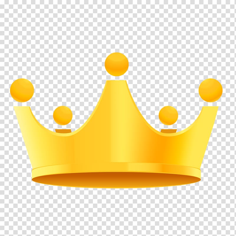 Yellow crown illustration, Gold, Golden crown material transparent.
