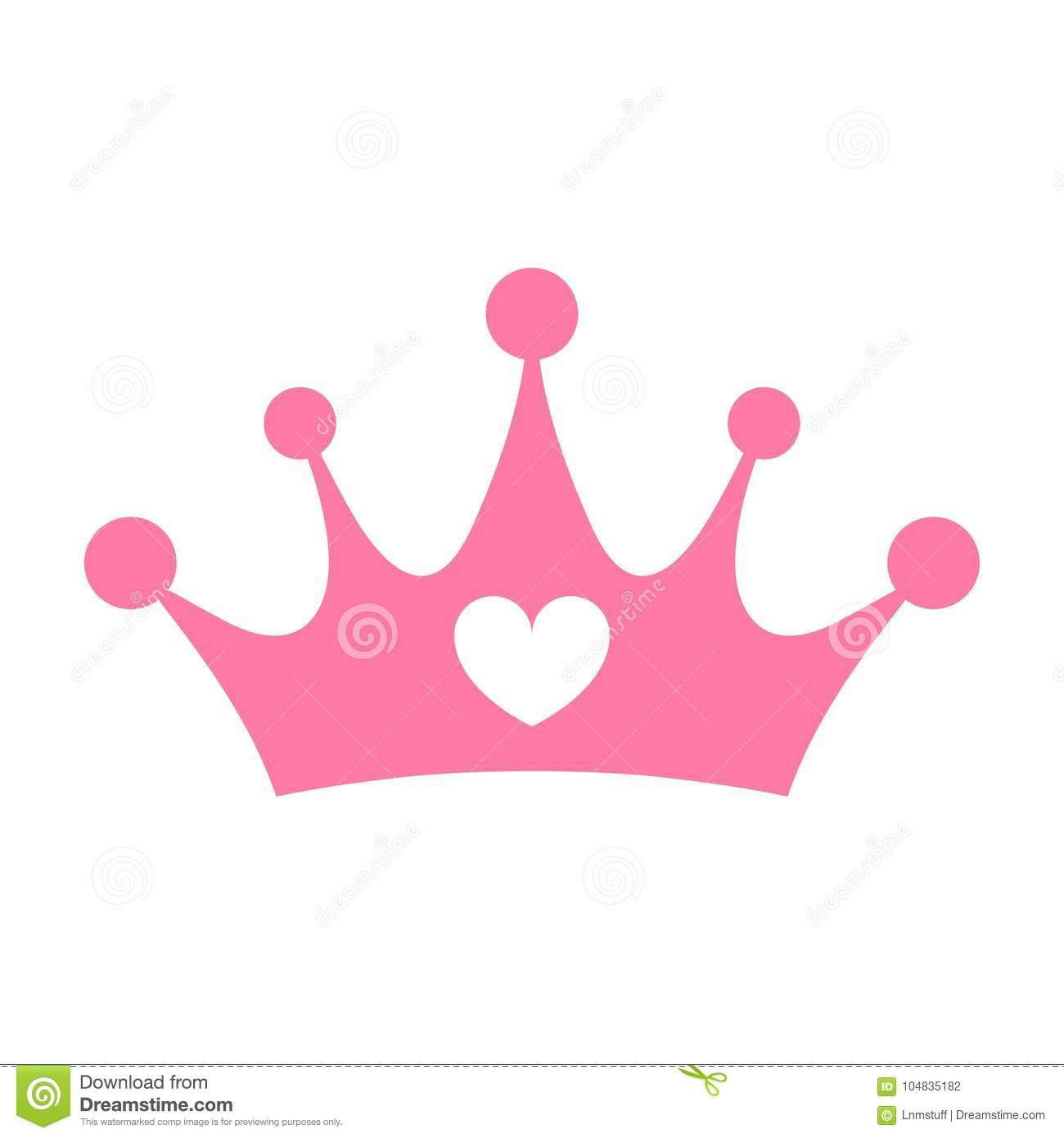 Princess Pink Crown Isolated.