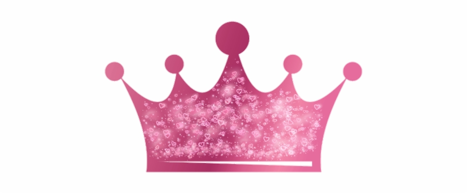 Pink Glitter Crown Png.