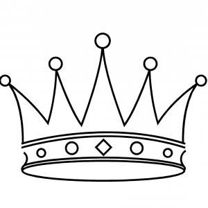 Point Crown Clipart Best Clipart Best Stencils T.