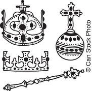 Clip Art Vector of Crown Jewels.