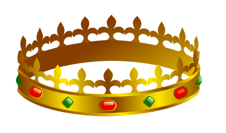crown with jewels.
