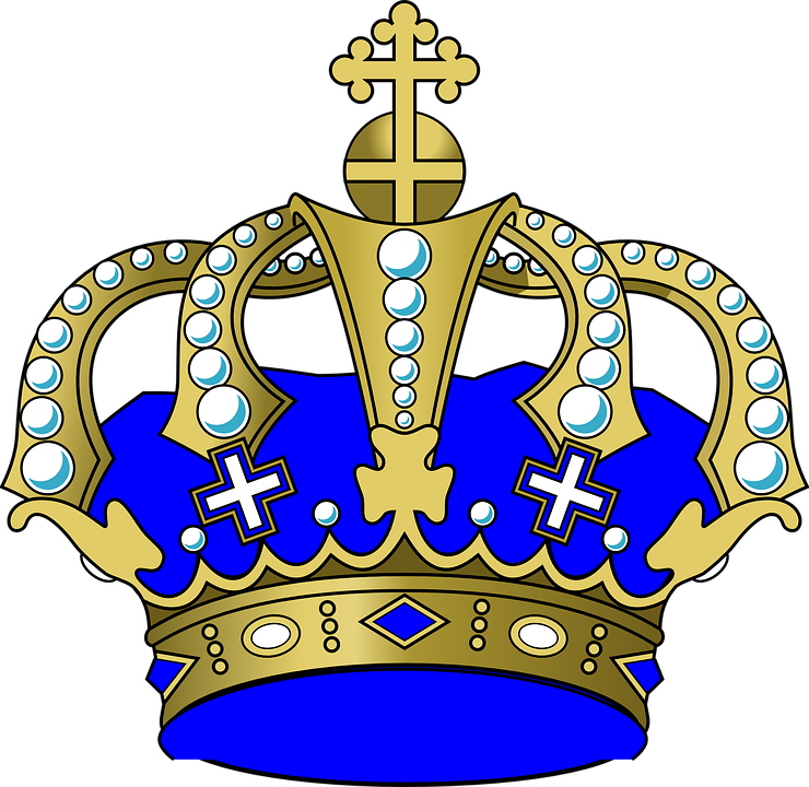 Free vector graphic: Crown, Jewels, Cross, Blue, King.