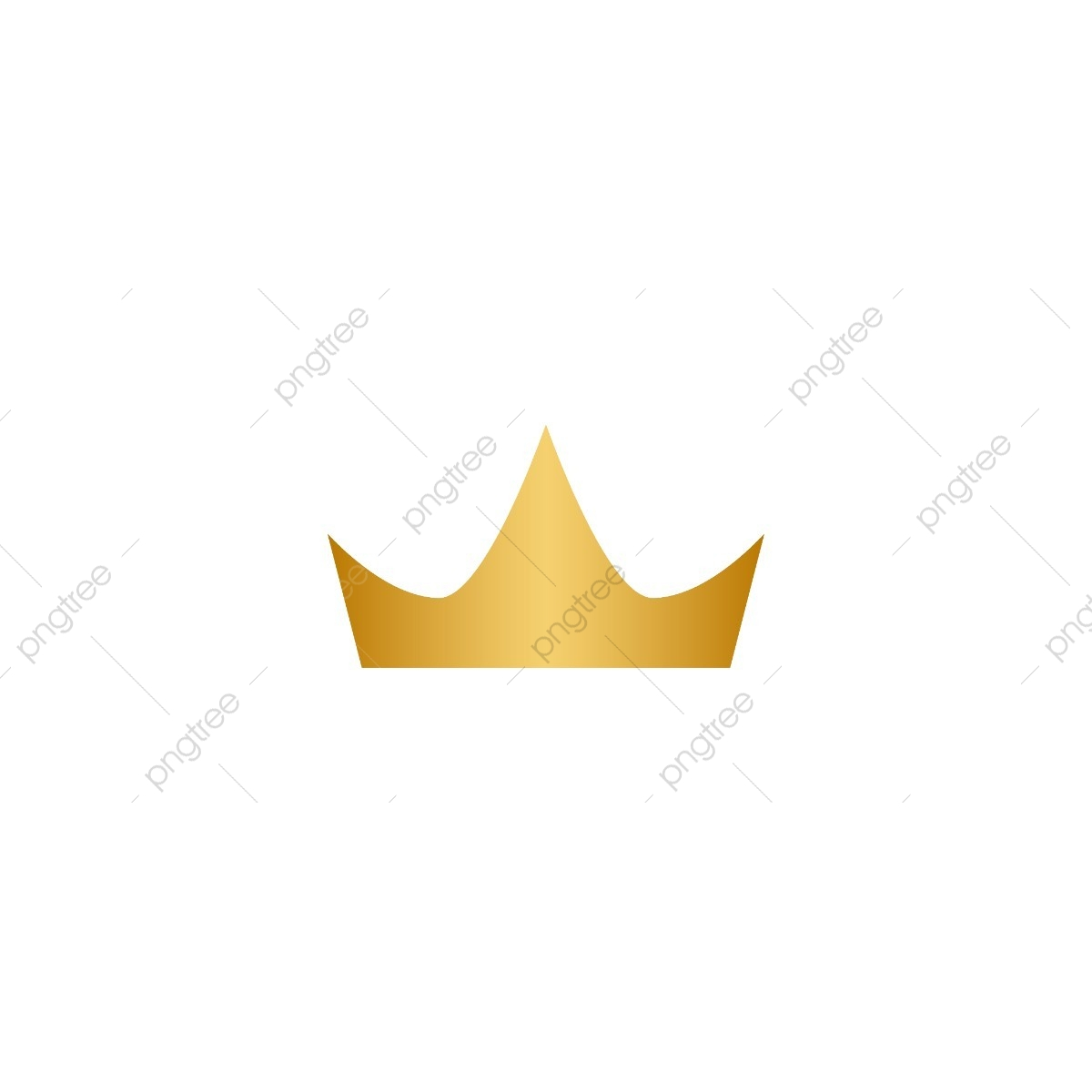 Gold Crown Logo Icon Element, Abstract, Background, Beauty PNG and.