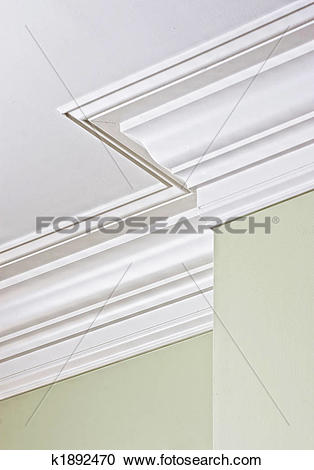 Stock Photography of corner crown molding k1892470.