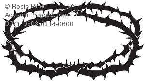 Clipart Illustration of a Crown of Thorns.