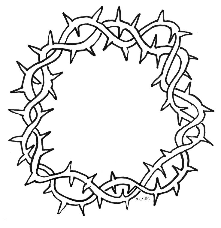 Crown Of Thorns Clipart.