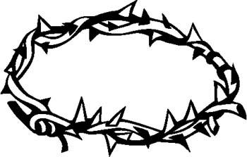 Wreath of thorns clipart #12