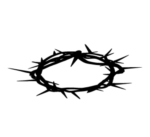 Jesus with crown of thorns clipart.
