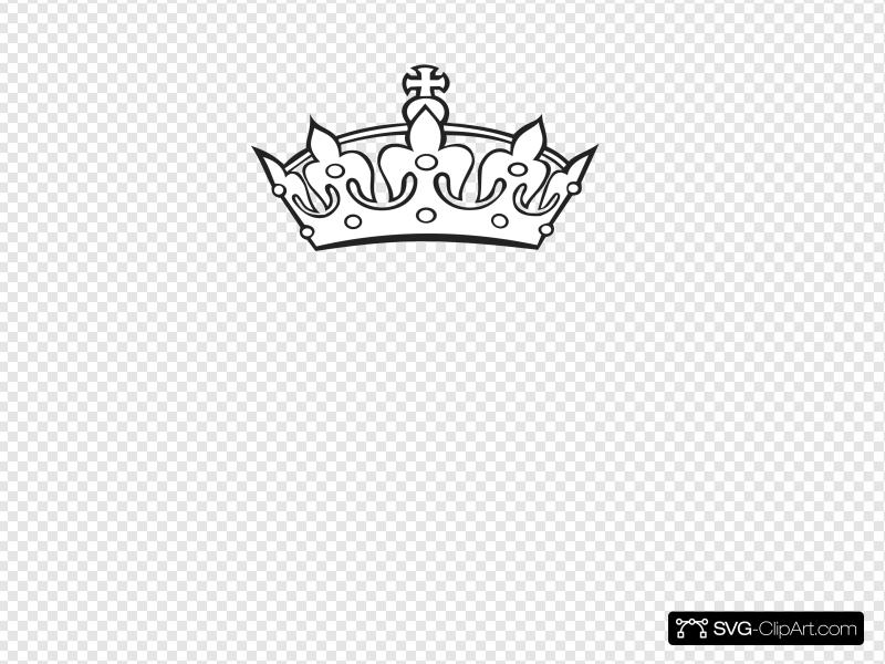 Crown Outline Clip art, Icon and SVG.