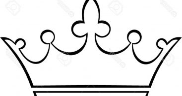 Outline Of A Crown.