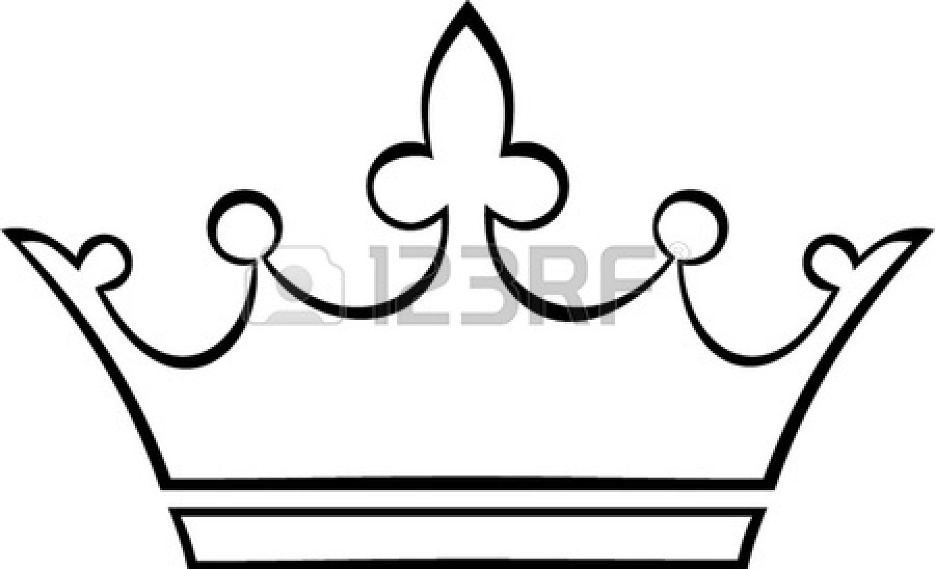 Crown outline logo clipart.
