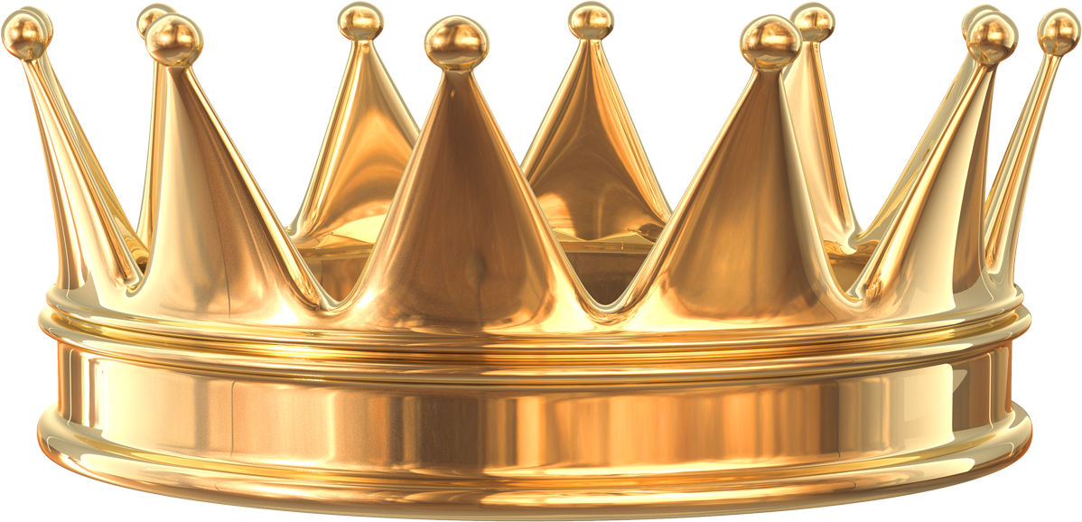 Gold Crown PNG Image.