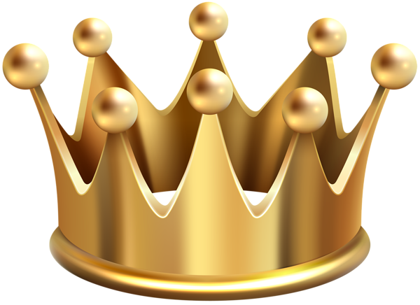 Gold Crown PNG Clip Art Image #40632.