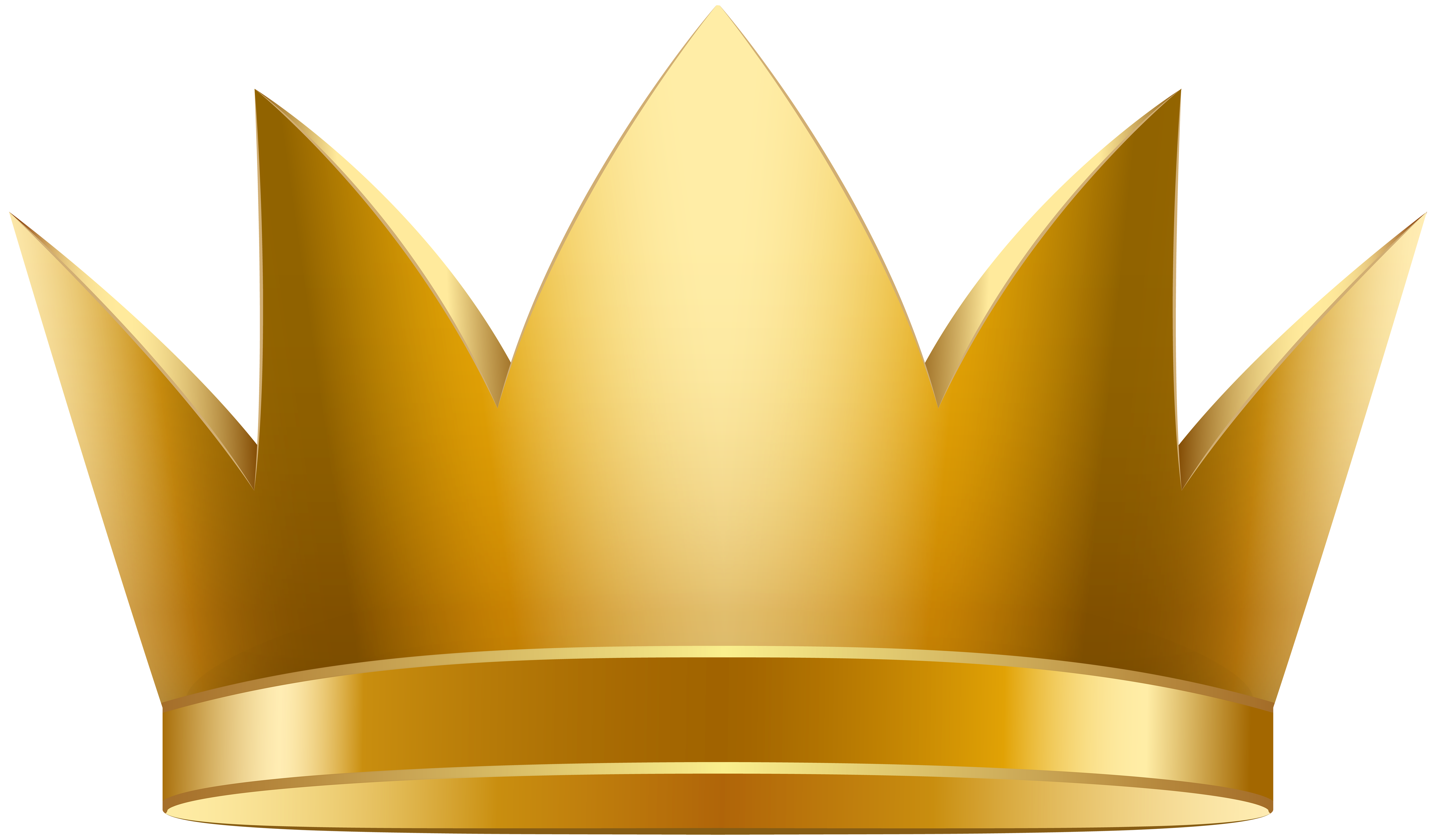 Golden Crown PNG Clip Art Image.
