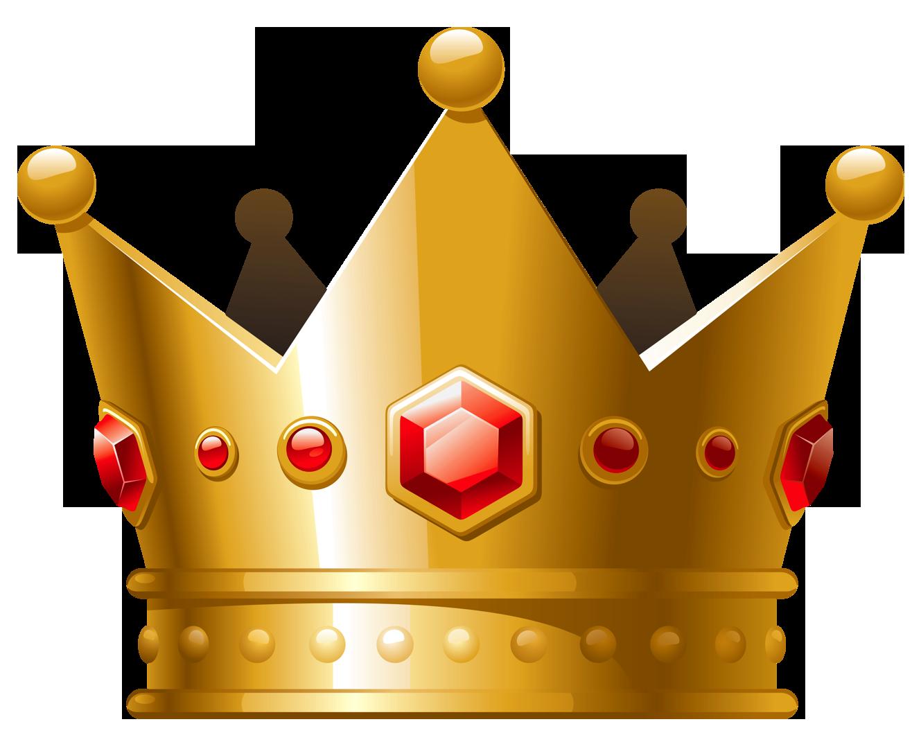 Golden Crown PNG Image.