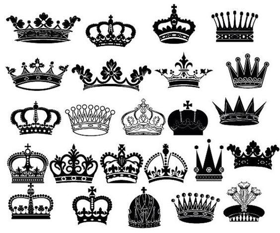 Crown Clipart // King Queen Crown Clip Art // Royal por.