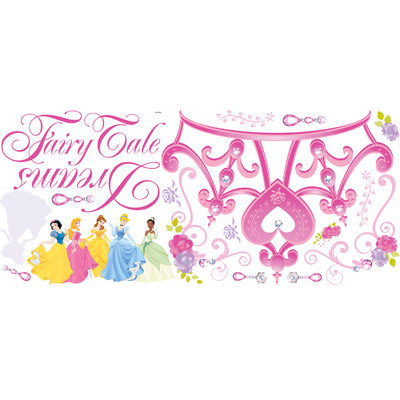 Wallhogs Disney Princess Crown Room Makeover Wall Decal.
