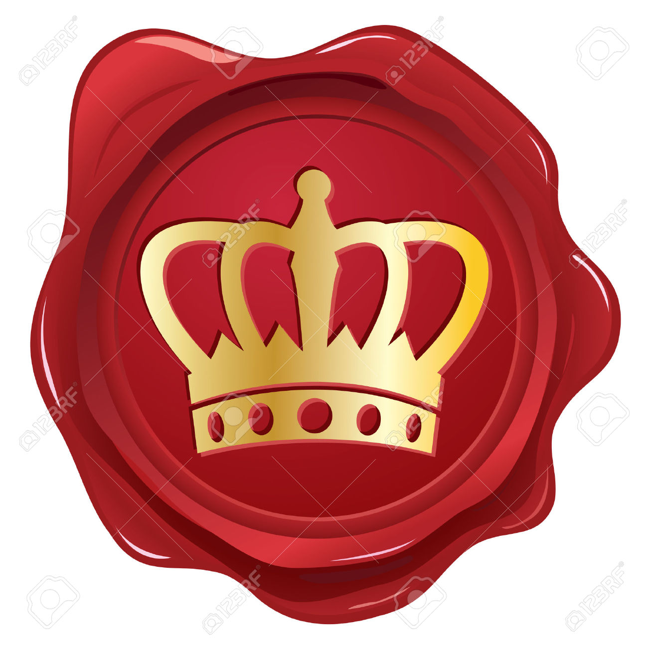 Crown Wax Seal Royalty Free Cliparts, Vectors, And Stock.
