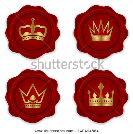 Wax Crown Seal Stamp Stock Photos, Images, & Pictures.
