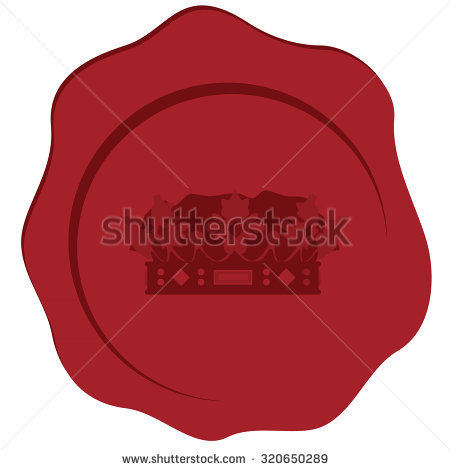 Red Crown Royal Seal Wax Stock Photos, Royalty.