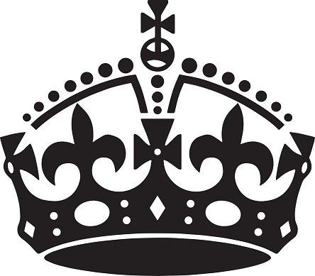 Crown tattoo vector. Men\'s tattoo. Women\'s tattoo. Clipart.