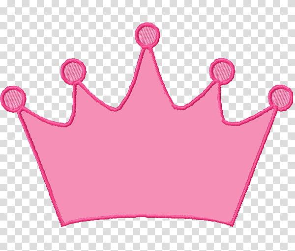 Cartoon Crown, Tiara, Princess, Silhouette, Pink, Magenta.